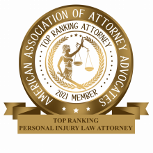 American Association of Attorney Advocates - Personal Injury Law 2021 new